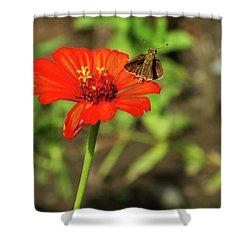 Flower And Friend Shower Curtain