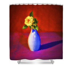 Shower Curtain featuring the photograph Flower And Vase  ... by Chuck Caramella