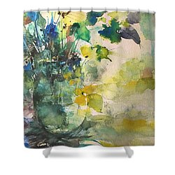 Flower And Vase Stilllife  Shower Curtain