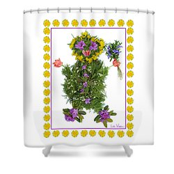 Flower Baby Shower Curtain