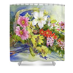 Flower Basket Shower Curtain
