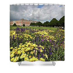 Flower Bed Hampton Court Palace Shower Curtain