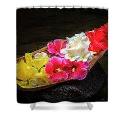 Flower Boat Shower Curtain