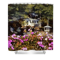 Flower Box Shower Curtain