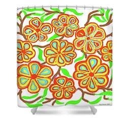 Flower Carnival Shower Curtain