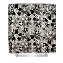 Flower Clown Pattern In Black Shower Curtain