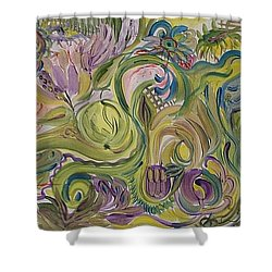 Flower Composition Shower Curtain by Rita Fetisov