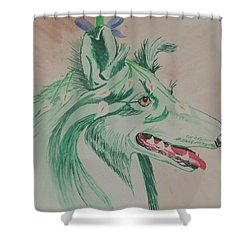 Flower Dog # 11 Shower Curtain