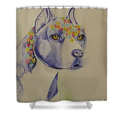Flower Dog 1 Shower Curtain