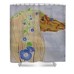 Flower Dog 10 Shower Curtain