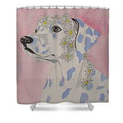 Flower Dog 2 Shower Curtain