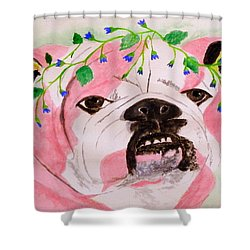 Flower Dog 3 Shower Curtain