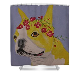 Flower Dog 5 Shower Curtain
