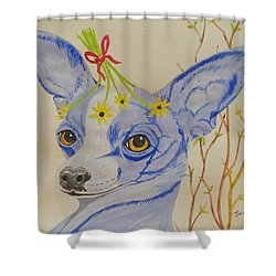 Flower Dog 7 Shower Curtain
