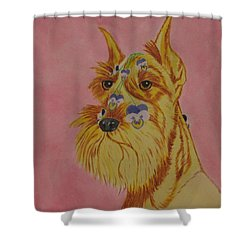 Flower Dog 9 Shower Curtain