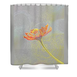 Flower Drawing Shower Curtain by Ellen O'Reilly