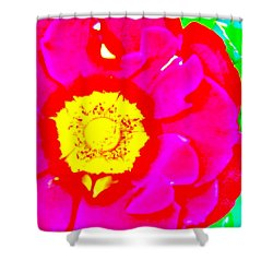 Flower Effect #3 Shower Curtain