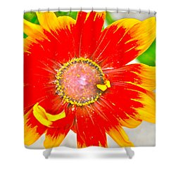 Flower Effect #5 Shower Curtain
