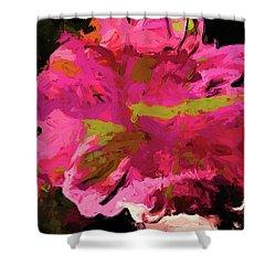 Flower Euphoria Magenta Pink Shower Curtain