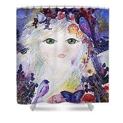 Flower Fairy Shower Curtain
