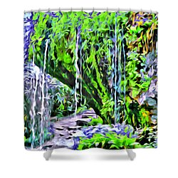 Flower Falls Shower Curtain