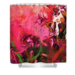 Flower Flames Soul Pink Shower Curtain