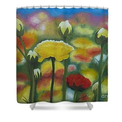 Flower Focus Shower Curtain