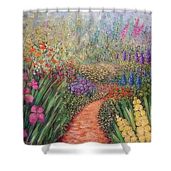 Flower Gar02den  Shower Curtain
