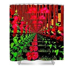 Flower Garden Abstract Shower Curtain by Marsha Heiken