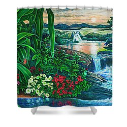 Flower Garden Ix Shower Curtain