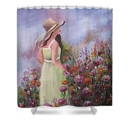 Flower Garden Shower Curtain by Vesna Martinjak