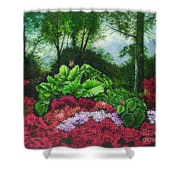 Flower Garden X Shower Curtain