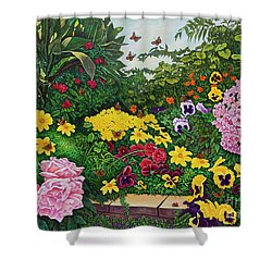Flower Garden Xii Shower Curtain