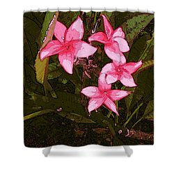 Shower Curtain featuring the digital art Flower Gems by Winsome Gunning