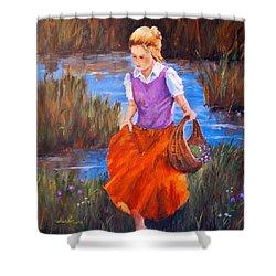 Flower Girl Shower Curtain by Alan Lakin