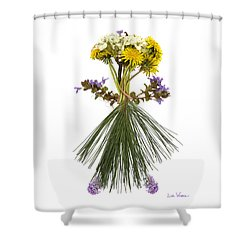Flower Head Shower Curtain by Lise Winne