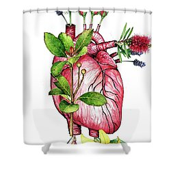 Flower Heart Shower Curtain