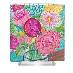 Flower In Vase Shower Curtain