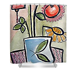 Flower Jug Shower Curtain