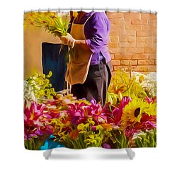Flower Lady Shower Curtain