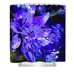 Flower Lavender Lilac Cobalt Blue Shower Curtain
