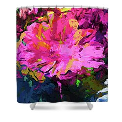 Flower Lolly Pink Yellow Shower Curtain
