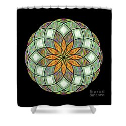 Shower Curtain featuring the digital art Flower Mandala Painted By Kaye Menner by Kaye Menner