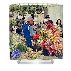 Flower Market - Cuenca - Ecuador Shower Curtain
