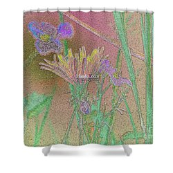 Flower Meadow Line Shower Curtain