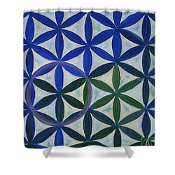 Flower Of Life Pattern Shower Curtain by Art by Kar