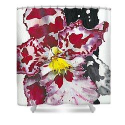 Shower Curtain featuring the painting Flower Orchid 11 Elena Yakubovich by Elena Yakubovich