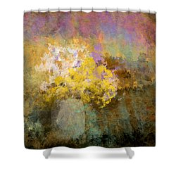 Flower Pot Shower Curtain by Jessica Wright
