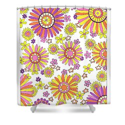 Flower Power 1 Shower Curtain