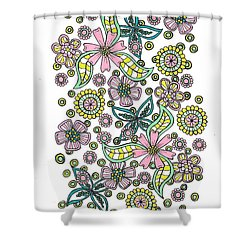 Flower Power 5 Shower Curtain